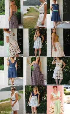 The Stepford Seven - 1 pattern, 7 dresses.