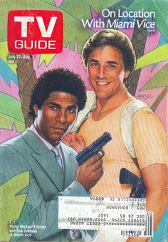 Old School TV Guide magazine cover, July 1985 - 'Miami Vice'... the essential 80s cop drama!