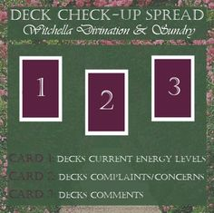 Tarot Spread: Deck Check-Up