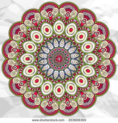 Find Mandala Round Ornament Vector Pattern Vintage stock images in HD and millions of other royalty-free stock photos, illustrations and vectors in the Shutterstock collection. Mandala Art, Mandala Drawing, Mandala Pattern, Vektor Muster, Coloring Books, Coloring Pages, Colouring, Ornament Pattern, Design Oriental