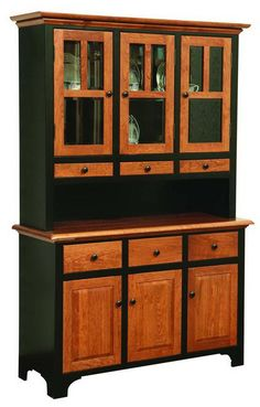 Amish 3 Door Fresno Hutch from DutchCrafters Amish Furniture