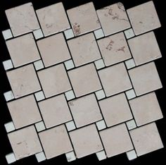 Mozaika marmurowa -  Kolekcja: Tetra 5015 Wave; Kod: TW501510; Wykończenie: ANTICO; Materiał: Rosso Perlino, Bianco Perlino; Wym. Kostki: 5,0x5,0 cm, 1,5x1,5 cm; Wym. Plastra:  28,7x28,7 cm
