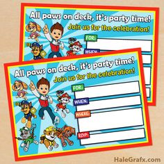 FREE Printable Paw Patrol Birthday Invitation