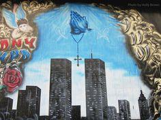 Twin Towers Mural at Ground Zero