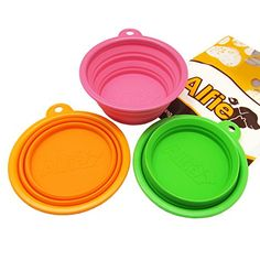 Alfie Pet by Petoga Couture  Set of 3 Ros Silicone Pet ExpandableCollapsible Travel Bowl  Size 15 Cups ** Be sure to check out this awesome product.Note:It is affiliate link to Amazon.
