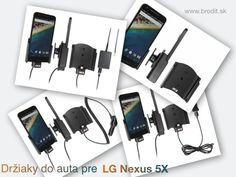Nové držiaky do auta pre LG Nexus 5X. Pasívny držiak Brodit pre pevnú montáž v aute, aktívny s CL nabíjačkou, s USB alebo s Molex konektorom.