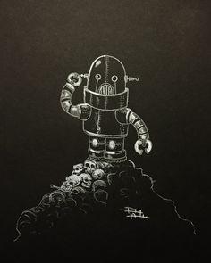 """Artwork - """"Skynet Attacks"""" by BlackRectangleBrand on Etsy"""