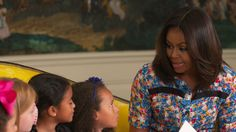 Little Girls Give Advice to Michelle Obama: Four little girls go to the White House to give some advice to First Lady Michelle Obama.