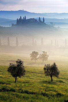 Mist in Tuscany, Italy