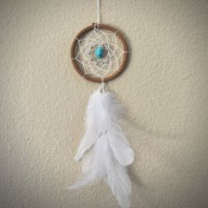 Dream Catcher for Car Mirror Brown White and by ReinaJewelers, $20.00