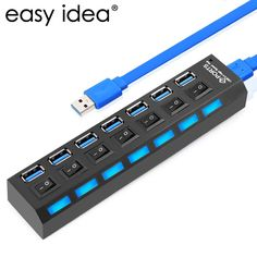 [Visit to Buy] NEW USB HUB 3.0 Super Speed 5Gbps 7 Ports USB 3.0 HUB USB Splitter With On/Off Switch Platooninsert For Computer Peripherals #Advertisement