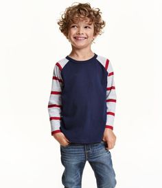 Long-sleeved T-shirt | Dark blue | Kids | H&M US