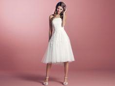 Diamonds by Lilly - 08-3244-CR - das erste kurze Brautkleid, das ich toll finde. UVP 400 Tacken