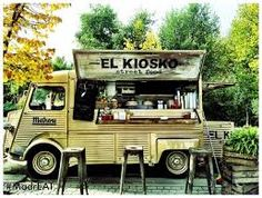 Resultado de imagen para madreat Citroen Van, Mobile Catering, Food Vans, Vintage Recipes, Vintage Food, Coffee Truck, Food Trailer, Mobile Bar, Organic Vegetables