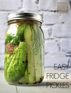 Easy Fridge Pickles ~ These are the easiest and tastiest refrigerator pickles, EVER, and they require no canning. Dump some ingredients and wait overnight.