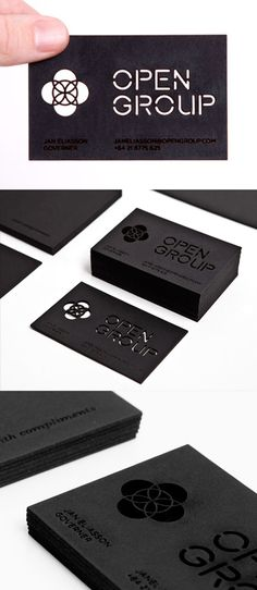 Intricate Laser Cut And Etched Black Business Card Design