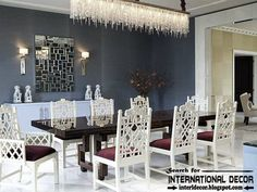 luxury dining room sets in gothic revival style 2015 with crystal chandelier
