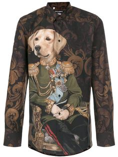 Dolce & Gabbana dog soldier print shirt   Thank goodness this item is sold out as it cost $675 ...sigh