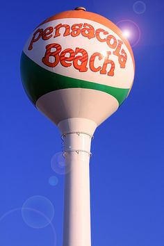 "Pensacola Beach ""Beach Ball"" Water Tower by Bonnie Woodson, via Flickr"