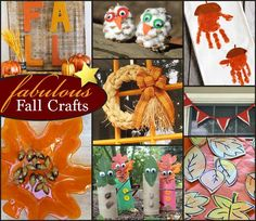 A round up of fabulous fall crafts.  Easy to make projects.