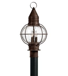 Hinkley Lighting Cape Cod 3 Light Post Lantern (Post Sold Separately) in Sienna Bronze 2207SZ #lightingnewyork #lny #lighting