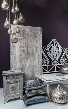 Take a look at these Moroccan Interior Design Ideas for inspiration. Moroccan style living room furniture suggestions that will create an authentic Moroccan feel. Art Marocain, Hanging Lamp Design, Hanging Lamps, Morrocan Decor, Moroccan Furniture, Moroccan Bedroom Decor, Balinese Decor, Ethno Design, Moroccan Interiors