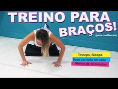 TREINO PARA BRAÇOS, BÍCEPS TRÍCEPS (mulheres) - YouTube