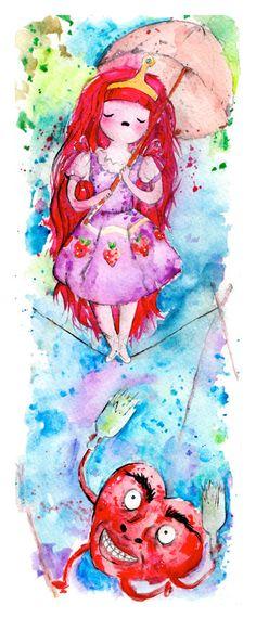 Princess Bubblegum / Stretching Portrait Mash Up by nicolesloan, $10.00