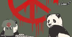 T-shirts - Design: Pandalism 2 - Peace Sign - by: Harry Fitriansyah