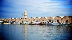 El puerto de Gandía hoy, con sus barcas de pesca amarradas