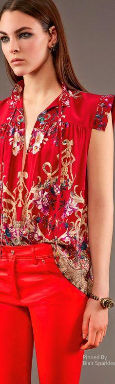 Roberto Cavalli Pre-Fall 2015 Love, love, love this ❤️ Red Fashion, Look Fashion, High Fashion, Fashion Show, Womens Fashion, Fashion Design, Fashion Trends, Glamour, Roberto Cavalli