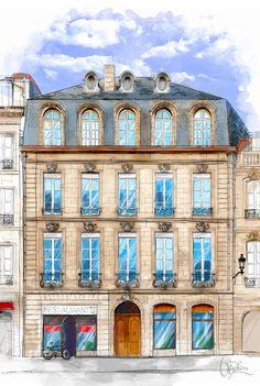 Architecture.Windows by Anna Ulyashina - illustrator, via Behance