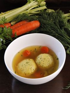 Vegetarian Matzo Ball Soup Recipe by Tori Avey - one secret ingredient makes this the ultimate meatless matzo ball soup! A delicious fall soup for those long cold evenings. Matzo Ball Soup Recipe Vegetarian, Vegetarian Recipes, Vegetarian Chicken, Chicken Soup, Kosher Recipes, Soup Recipes, Cooking Recipes, Kosher Food, Health Recipes