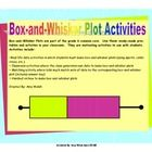 Box-and-Whisker Plots are part of the grade 6 common core.  Use these ready-made printables and activites in your classroom.  They are motivating a...