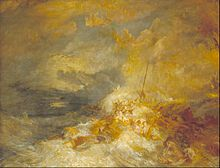 A Disaster at Sea by J.M.W. Turner  The Tate Museum