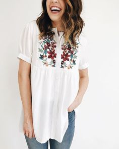 Nursing friendly button-ups in full bloom!  Also available in taupe.