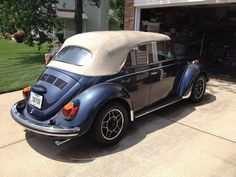 Thomas Kaseler, from Massillon, Ohio. His 1971 1302LS restored Porsche Ocean Blue Metallic VW Cabriolet, black polished ATS alloys wheels, running a 1.8l with Weber downdraft carburation and about …
