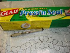 Quilts by Rosemary: Marking a Quilting Pattern with Press'n Seal Read comments for more free motion quilt pattern tips (use cheap tissue paper) Quilting Stencils, Quilting Tools, Longarm Quilting, Quilting Tutorials, Quilting Projects, Quilting Ideas, Hand Quilting Designs, Crazy Quilting, Quilt Designs