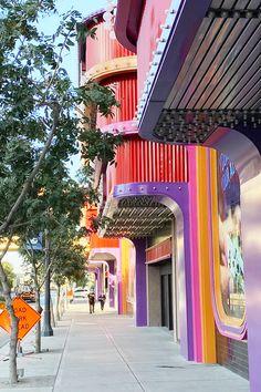 The Cal got a new coat of paint. Las Vegas Hotels, Fair Grounds, Paint, Coat, Hotels In Las Vegas, Picture Wall, Sewing Coat, Paintings, Peacoats