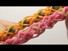 Rainbow Loom TULIP WRAP Bracelet. Designed and loomed by Mario at OfficiallyLoomed. Click photo for YouTube tutorial. 02/22/14.