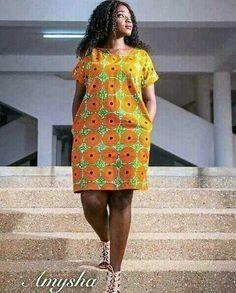 Beautiful African Ankara Styles For Curvy Ladies by laviye Short African Dresses, Latest African Fashion Dresses, African Print Dresses, African Print Fashion, Africa Fashion, Ankara Dress Styles, Ankara Gowns, African Traditional Dresses, African Attire