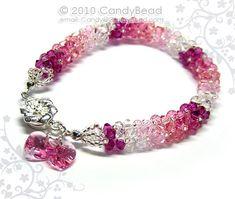 Swarovski bracelet Luxurious Rosy Shade Swarovski by candybead, $20.00