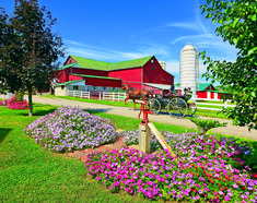 Springtime in Amish Country (Ohio) is a beautiful thing! Amish Country Ohio, Amish Farm, Ontario, Amish Pie, Amish Village, Amish Culture, Amish Community, Farm Barn, Old Barns