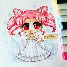 A warm-up chibi of Princess Small Lady Serenity ( a.k.a ChibiUsa ) from Sailor Moon =D  #sailormoon #chibiusa #princess #smalllady #serenity #fanart #chibi #copic #copicart #kawaii #copicmarkers #traditionalart #instaart #instagramart #instaartist #instagramartist #manga #anime