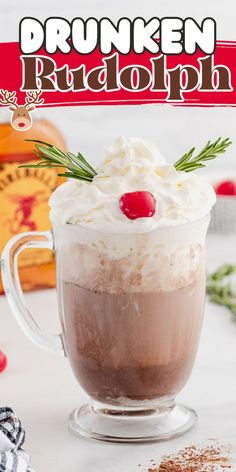A Drunken Rudolph is an adult hot chocolate cocktail and one of the easiest ways to turn your Christmas cocoa into a boozy, holiday beverage. By simply spiking your milk and hot chocolate mixture in a mug, you can create this creamy rich drink in only 3 minutes--it's the ultimate mashup of childhood comfort and adulting.