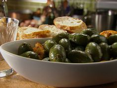 Marinated Olives with Rosemary, Red Chili, Orange and Paprika recipe from Tyler Florence via Food Network