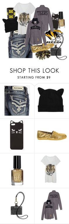 """MIZ"" by ameliannaire ❤ liked on Polyvore featuring Rock Revival, Hot Topic, Möve, Forever 21, TOMS, Bobbi Brown Cosmetics, Coach and Victoria's Secret PINK"