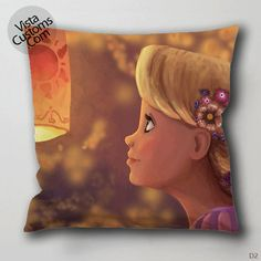 rapunzel blonde girl cartoon Pillow Case, Chusion Cover ( 1 or 2 Side Print With Size 16, 18, 20, 26, 30, 36 inch )