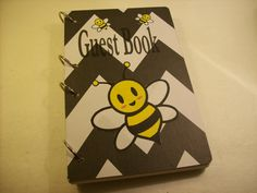 Bee Party guest book #birthday #party #guestbook #ljbminis2021 #etsy #beeguestbook #beeparty #honeybeeparty #kidsparty