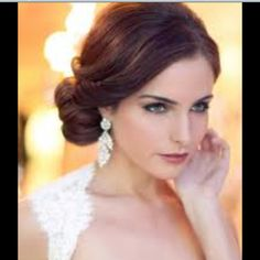 Wore this to a wedding! twist side part in front back, sock bun to the side! Beautiful.